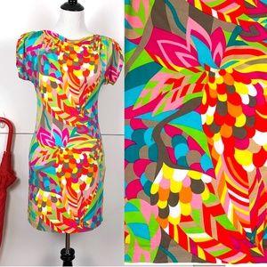 Trina Turk TropicalPrint Bodycon Dress Sz P